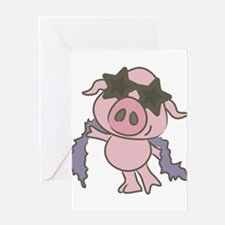 Pig Star Greeting Cards