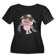 Pig Star Plus Size T-Shirt