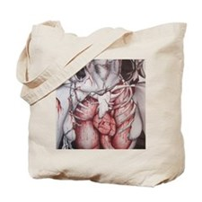 Barbed Wire Woman Tote Bag