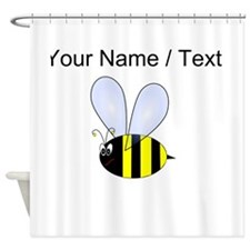 Custom Bumble Bee Shower Curtain