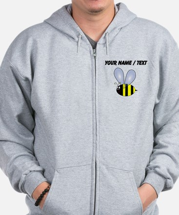 Custom Bumble Bee Zip Hoody