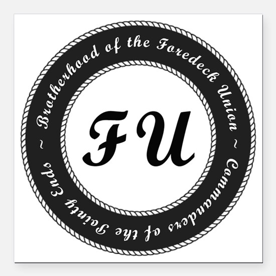 """Foredeck Union Seal Logo Square Car Magnet 3"""" x 3"""""""