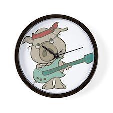 guitar pig Wall Clock