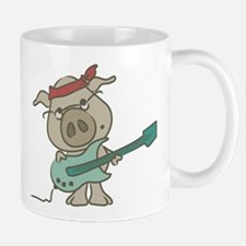guitar pig Mugs