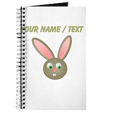 Custom Cartoon Bunny Journal