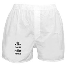 KEEP CALM AND FIGHT FIRES Boxer Shorts