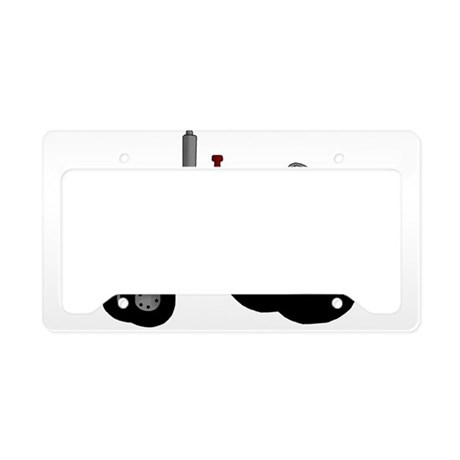 red tractor License Plate Holder