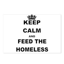 KEEP CALM AND FEED THE HOMELESS Postcards (Package