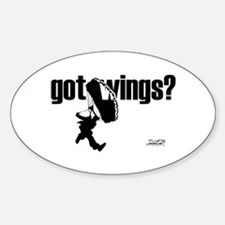 Got Wings Skydiving Oval Decal
