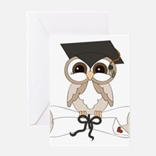 graduation owl Greeting Cards