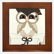 graduation owl Framed Tile