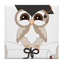 graduation owl Tile Coaster
