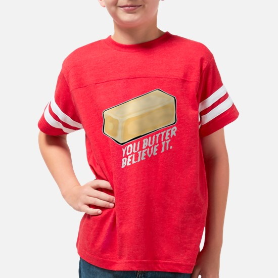 Butter Believe It Youth Football Shirt