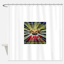 ARF! Animal Rescue Fundraising. Shower Curtain