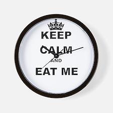 KEEP CALM AND EAT ME Wall Clock