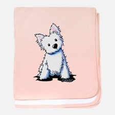 Westie Sweetness baby blanket