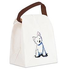 Westie Sweetness Canvas Lunch Bag