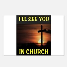 CHURCH CROSS Postcards (Package of 8)