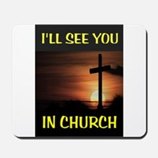CHURCH CROSS Mousepad