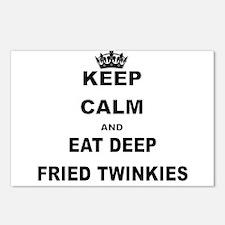 KEEP CALM AND EAT DEEP FRIED TWINKIES Postcards (P