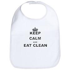KEEP CALM AND EAT CLEAN Bib