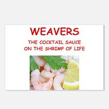 weaver Postcards (Package of 8)