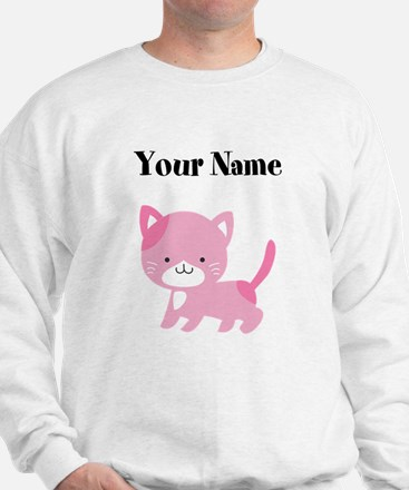 Personalized Pink Cat Sweater