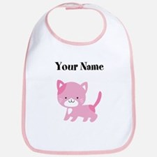 Personalized Pink Cat Bib