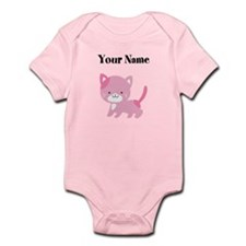 Personalized Pink Cat Body Suit