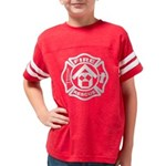 PM FIRE-RESCUE BW copy Youth Football Shirt
