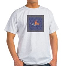 Blue Bird of Paradise Ash Grey T-Shirt
