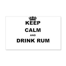 KEEP CALM AND DRINK RUM Wall Decal