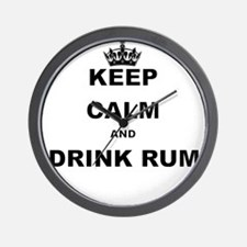 KEEP CALM AND DRINK RUM Wall Clock