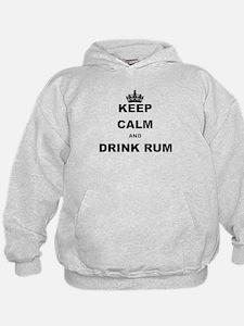 KEEP CALM AND DRINK RUM Hoodie
