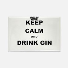KEEP CALM AND DRINK GIN Magnets