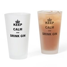 KEEP CALM AND DRINK GIN Drinking Glass
