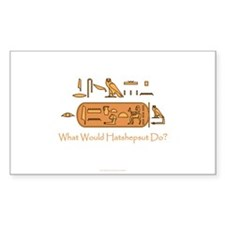 What Would Hatshepsut Do? Rectangular Decal