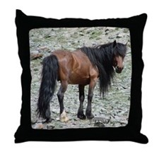 Mongolian HorseThrow Pillow