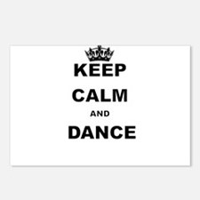 KEEP CALM AND DANCE Postcards (Package of 8)