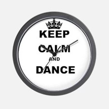 KEEP CALM AND DANCE Wall Clock