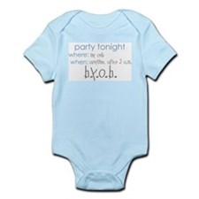 Party at my crib blue Infant Bodysuit