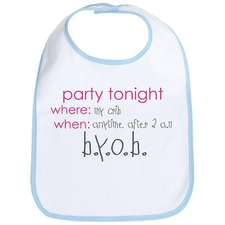 Party at my crib pink Bib