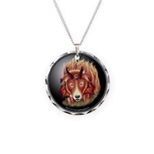 Border Collie Fire Drake Necklace