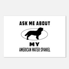 Ask Me About My American Water Spaniel Postcards (