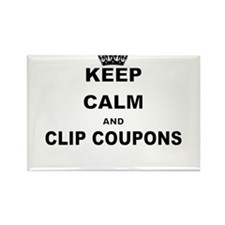KEEP CALM AND CLIP COUPONS Magnets