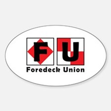 FU Flags Logo Decal