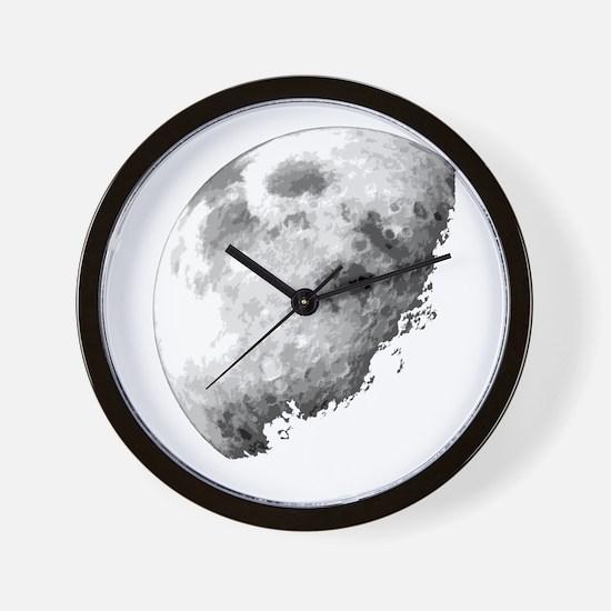 Eclipsing Moon Wall Clock