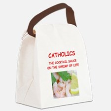 catholic Canvas Lunch Bag