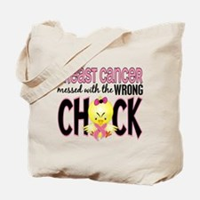 Breast Cancer Messed With Wrong Chick Tote Bag