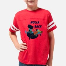 Missy White Plus Holla Back Youth Football Shirt